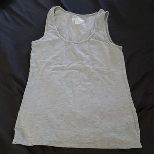 Grey fitted tank